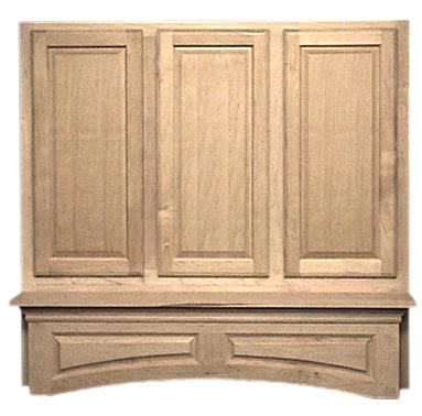 Decorative Mantle for Wooden Hoods